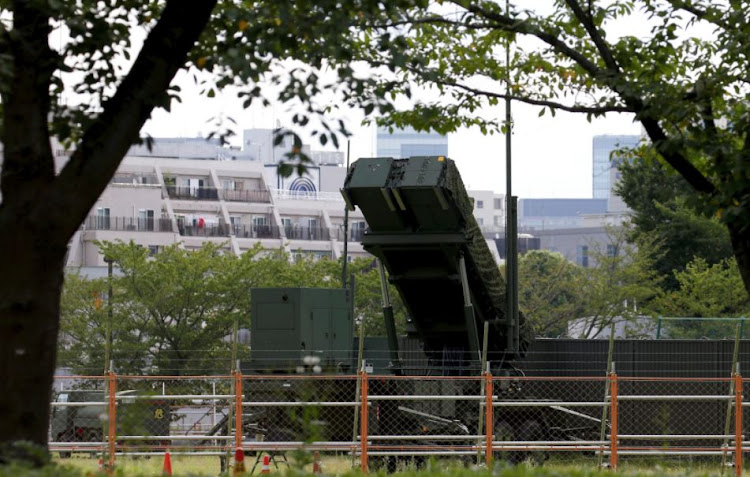 A unit of Patriot Advanced Capability-3 (PAC-3) missile is seen after North Korea's missile launch, at the Defense Ministry in Tokyo, Japan, September 15, 2017.