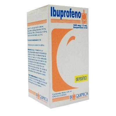 Ibuprofeno 100Mg 120Ml Suspensión Bioquimica