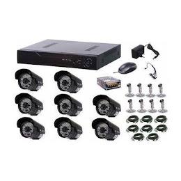 Kit CCTV supraveghere video 8 camere de exterior IP67, HDMI, infrarosu, urmarire LIVE
