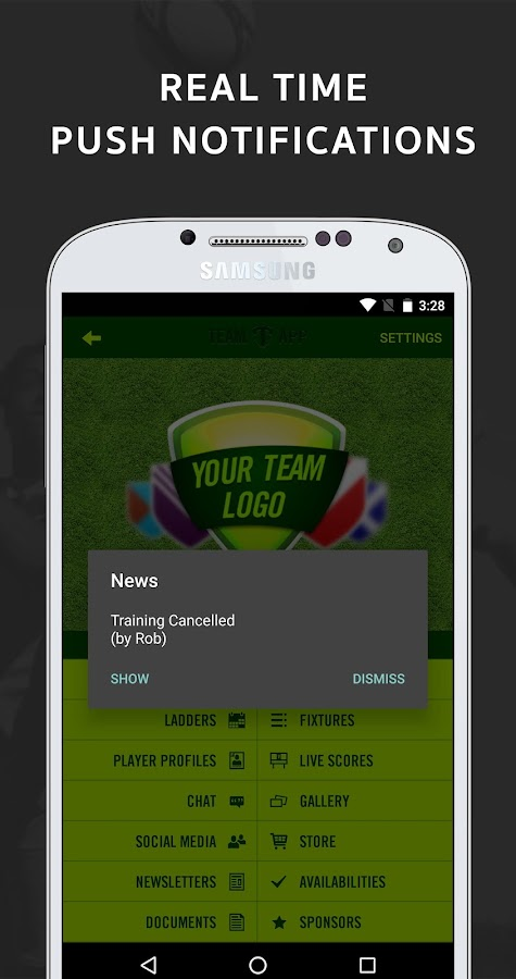Team App- screenshot