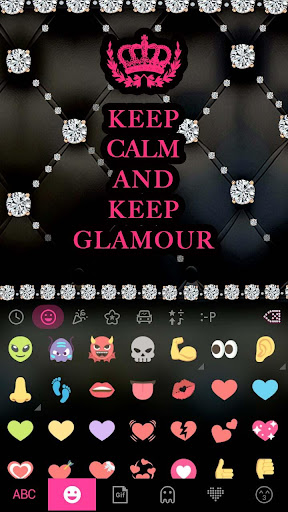 Glamour Emoji Kika Keyboard Screenshot