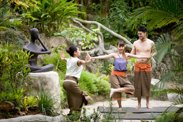 Exercise the spa's adaptation of Thai yoga with body stretches
