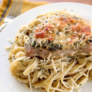 Pesto Parmesan Pork Chops Recipe