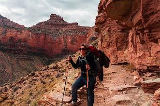 Photo: Kait on the South Kaibab Trail down the South Rim of Grand Canyon National Park, Arizona, USA
