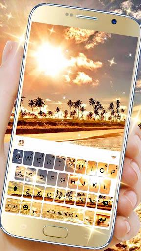 golden sunset keyboard theme screenshot 1