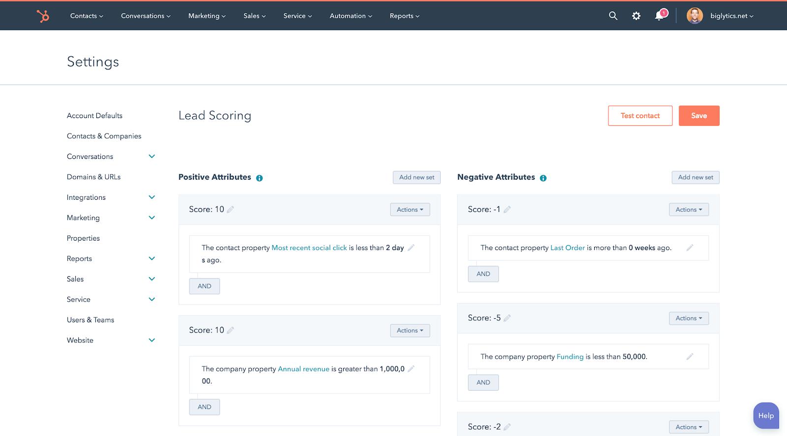 Lead scoring inside Hubspot CRM | Lead qualification
