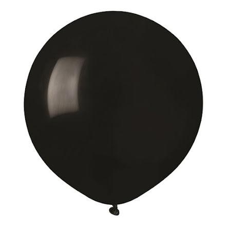 Ballonger helrunda 48 cm, svarta