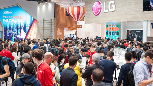 Mobile World Congress usually attracts large crowds each year.