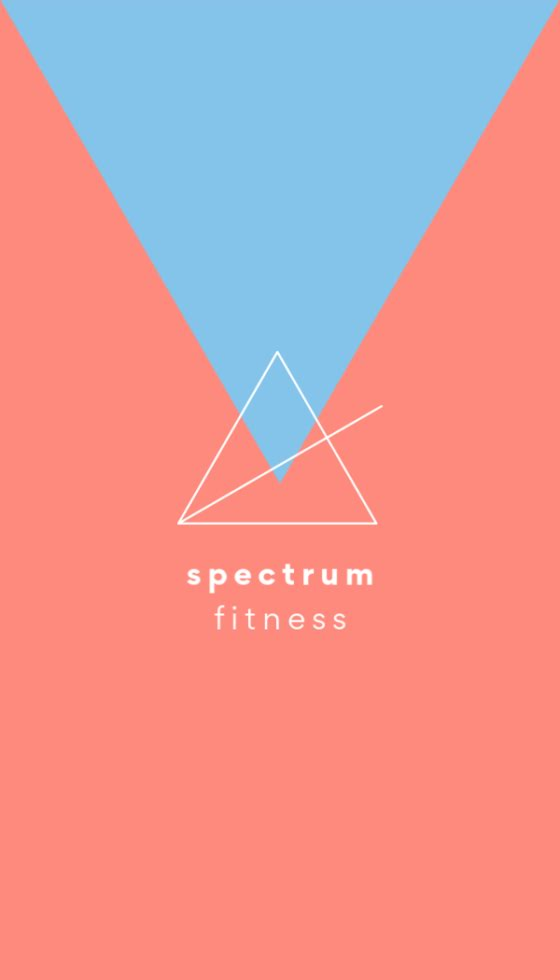 Spectrum Fitness Front - Business Card Template