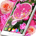 Roses Analog Clock Wallpaper icon