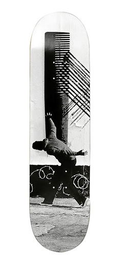 One of Robin Rhodes's skateboard designs.