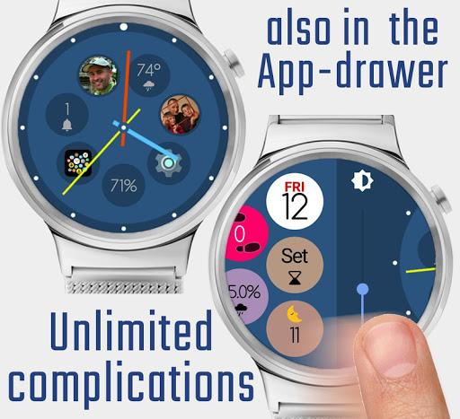 Bubble Cloud Wear Launcher Watchface (Wear OS) 9.39 screenshots 5