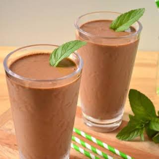 Vegan Chocolate Mint Shake.