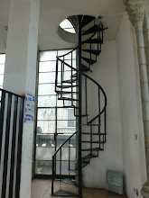 Photo: Stairway to the clock works in the right main tower