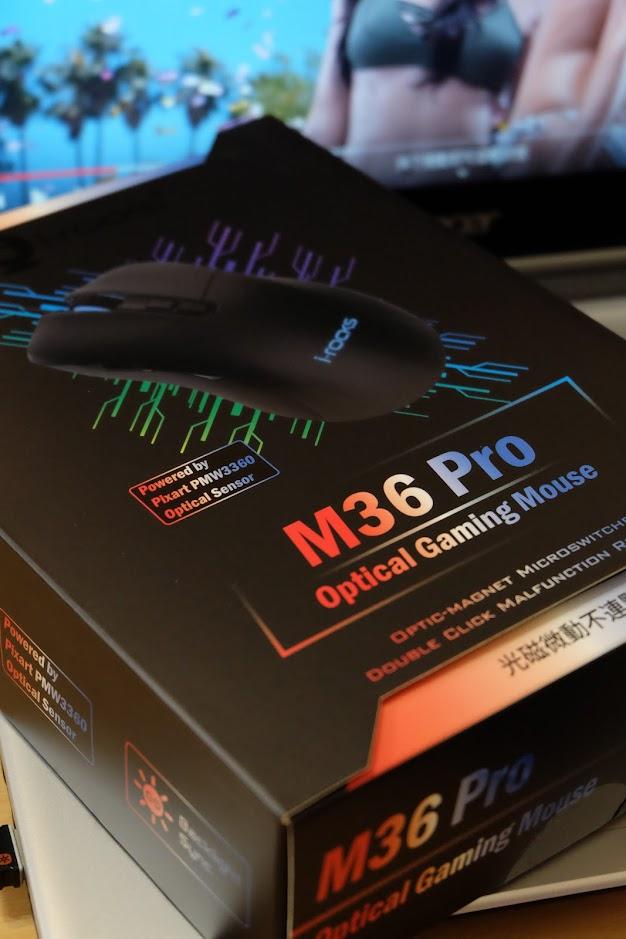 i-Rocks M36 PRO 搭載PMW3360感應器,多工使用更靈巧
