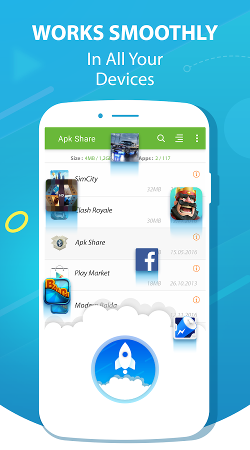 Apk Share / App Send Bluetooth , Easy Uninstall- screenshot