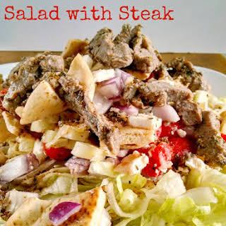 Pita Panzanella Salad with Steak.