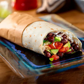 Easy Black Bean Burritos.