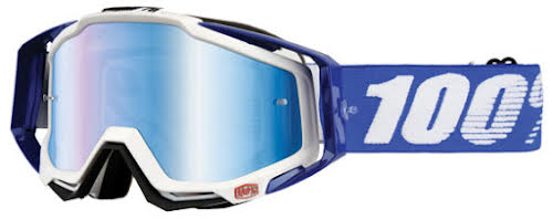 100% Racecraft Goggle, Cobalt Blue with Mirror Blue Lens