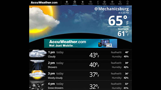 AccuWeather for Sony Tablet P screenshot 3