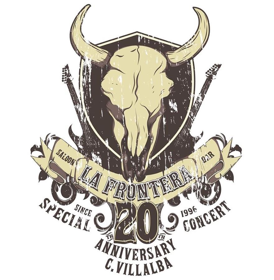 La Frontera Saloon Bar Villalba logotipo 20 aniversario