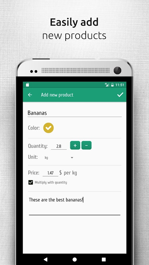 Shopsly - Grocery list- screenshot