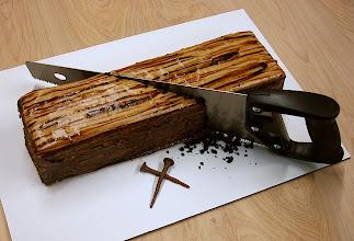 Photo: Eric's wood cake