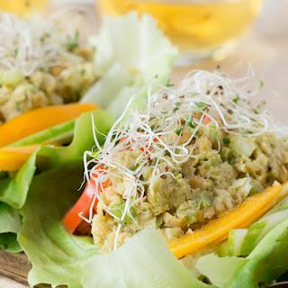 Avocado Chickpea Lettuce Wraps - V + GF