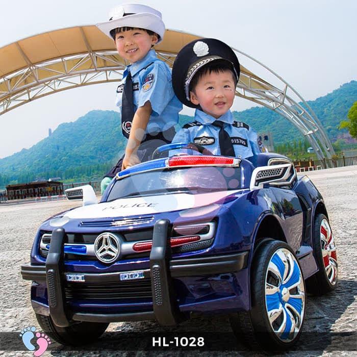 Xe ô tô điện cảnh sát HL-1028 3
