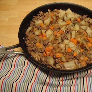 Skillet Ground Beef Stew.