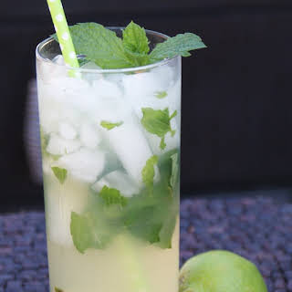 Mojito with Honey Simple Syrup.