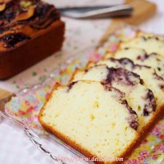 Jam Swirled French Yoghurt Cake