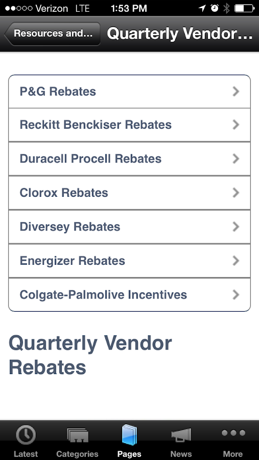 RJ Schinner DSR Mobile App- screenshot