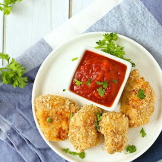 Healthy Chicken Nuggets with Parmesan