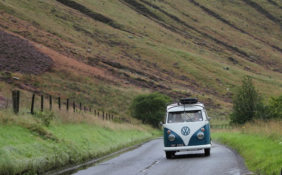 Bus in Scotland by Maria Barbara - Travel Locations Busses ( scotland, bus )
