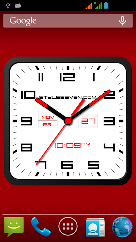 android Square Clock Android-7 PRO Screenshot 1