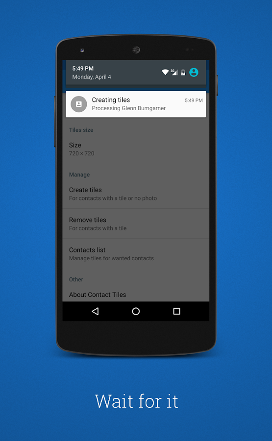 Contact tiles android apps on google play for Tile layout app