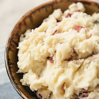 Stovetop Rustic Garlic Mashed Potatoes.