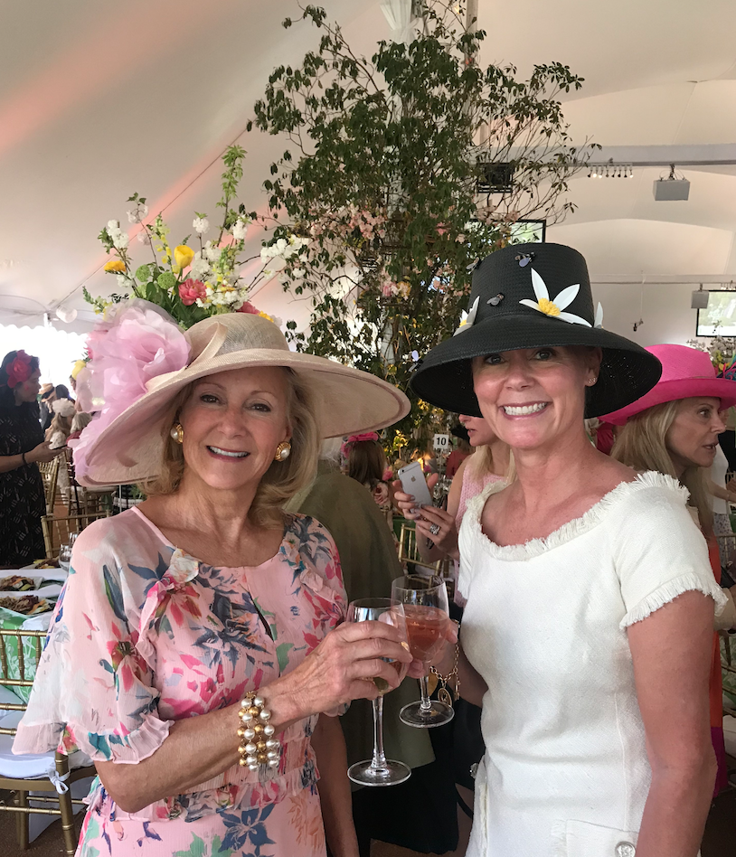 Karen Klopp and Hilary Dick  for New York Social Diary, What to wear,   Royal Wedding Prince Harry & Meghan Markle KK and Hilary at the Hat Luncheon