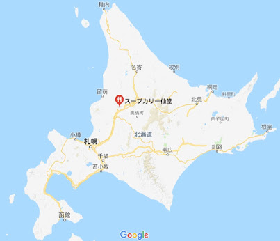 地図:スープカリー仙堂