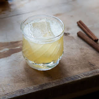 Cinnamon-Honey Scotch Sour Cocktail.