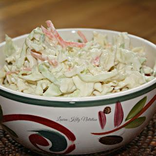Creamy Healthy Coleslaw.