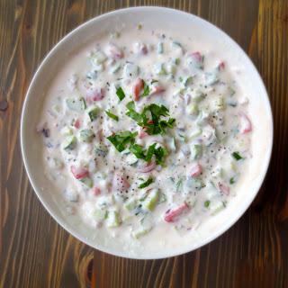 Raita – Yogurt & Vegetable Dip (Good & Cheap Cookbook)