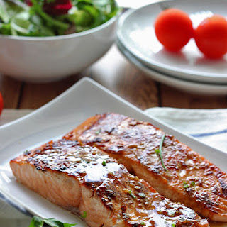Honey Garlic Salmon.