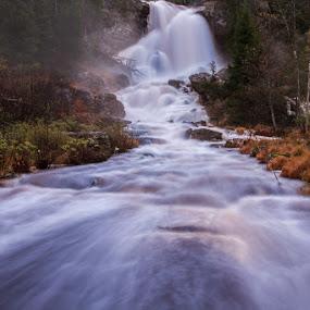Elgåfossen, Norway by Morten Pettersen - Landscapes Waterscapes ( waterfall, norway )