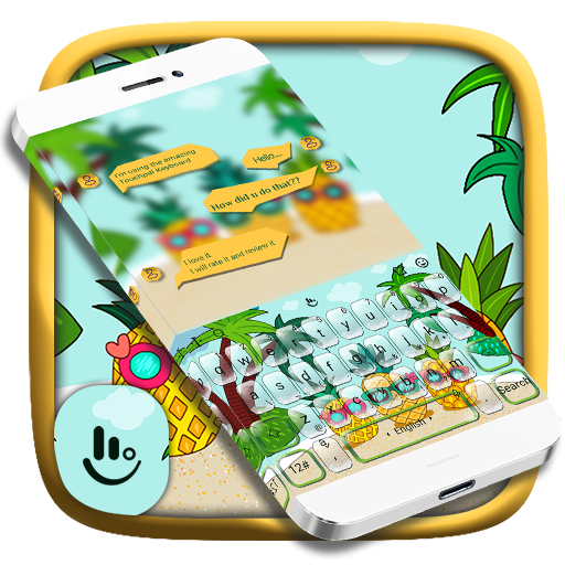 Sweet Summer Fresh Fruit Pineapple Keyboard Theme Android APK Download Free By VamosApps