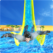 Real Super Hero Water Slide Uphill Amusement Park APK for Bluestacks