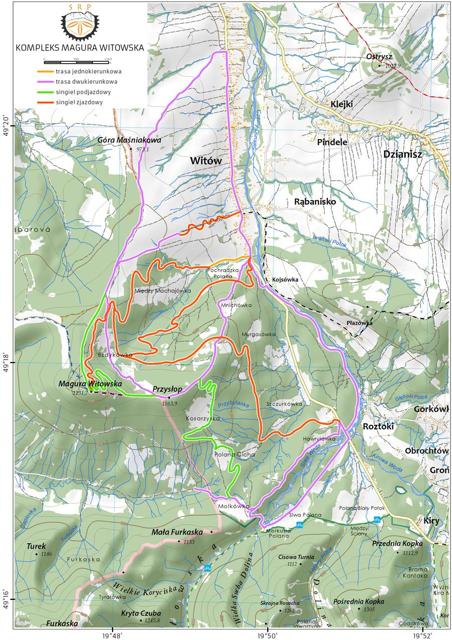 Magura Witowska Mapa
