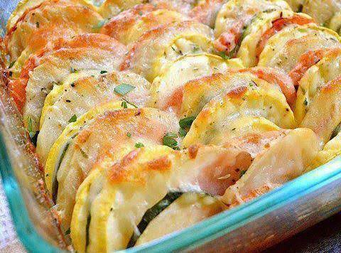 Fresh Vegetables Topped With Cheese Recipe