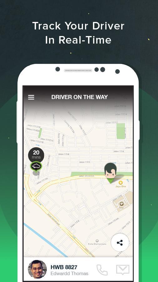 GrabTaxi: Book a ride- screenshot